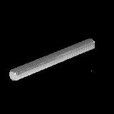 Tije complet filetate zincate alb din 975